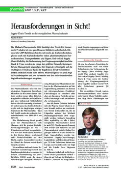 [Translate to Deutsch:] Herausforderungen in Sicht! Supply-Chain-Trends in der europäischen Pharmaindustrie
