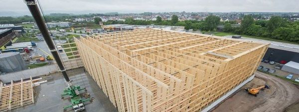 Alnatura builds the world's largest wooden high-bay warehouse