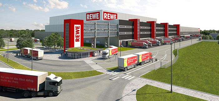 REWE holds topping-out ceremony for new logistics center