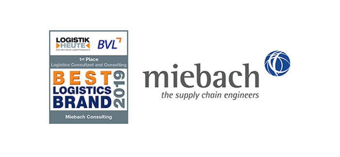 Miebach Consulting recognized as Best Logistics Brand 2019