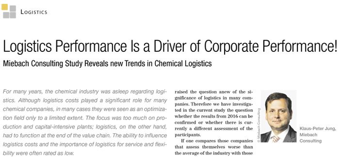 Logistics Performance is a Driver of the Corporate Performance!